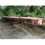 40' APPROX. FLAT BED YARD TRAILER, NO. 12 (NO TITLE)