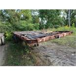 APPROX. 40' FLAT BED YARD TRAILER, NO. 7 (NO TITLE)