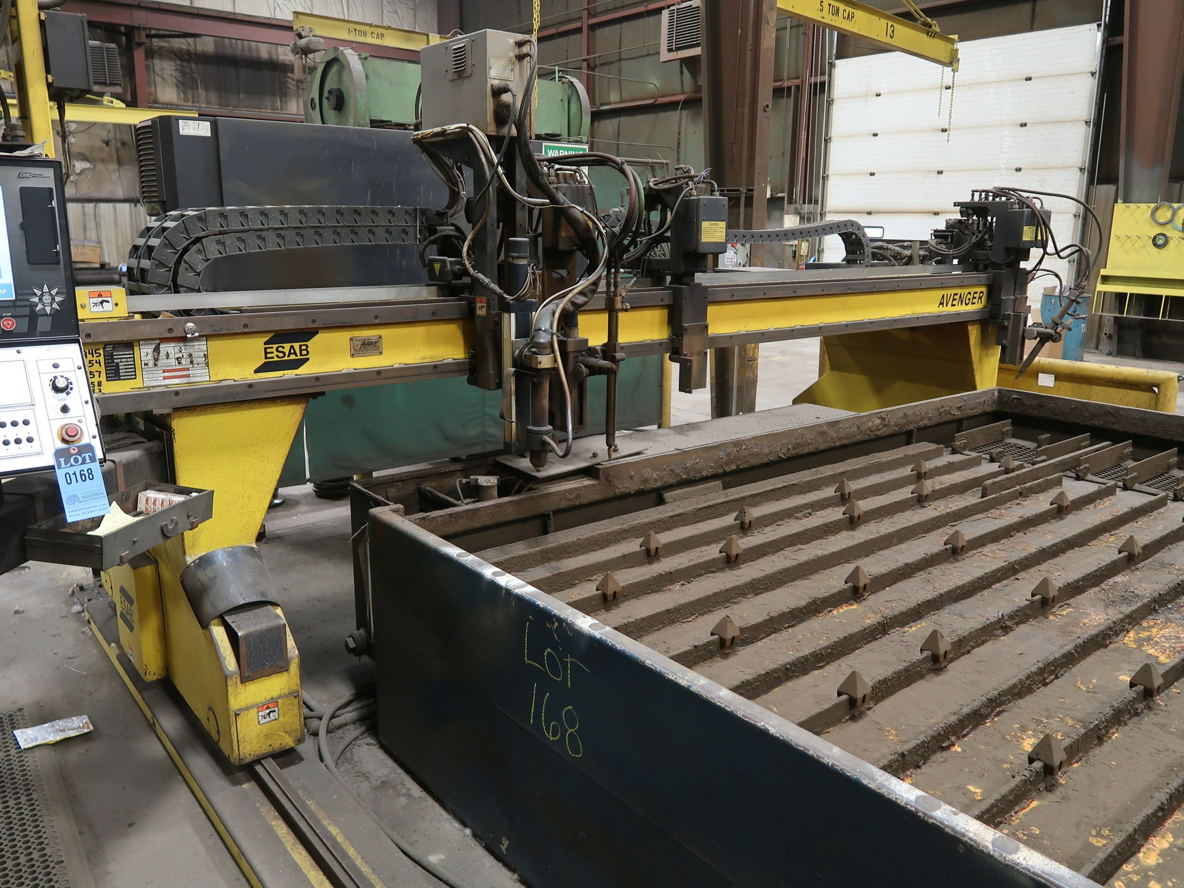 12' X 40' ESAB MODEL AVENGER 1-12 VISION PLASMA TABLE W/ BURNY 10 CONTROL; S/N 0560986386, UPDATED - Image 8 of 23