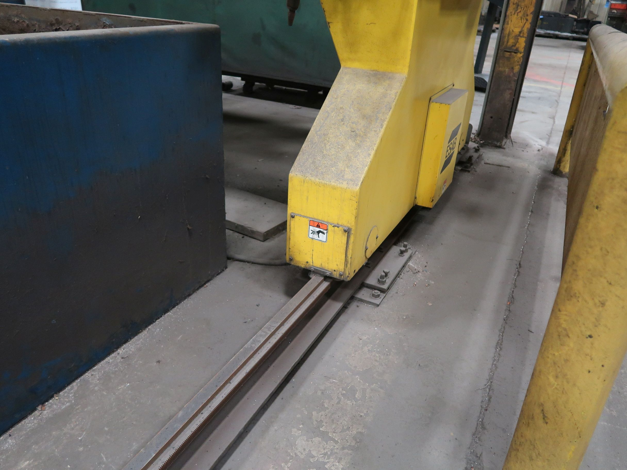 12' X 40' ESAB MODEL AVENGER 1-12 VISION PLASMA TABLE W/ BURNY 10 CONTROL; S/N 0560986386, UPDATED - Image 15 of 23