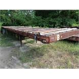 40' APPROX. FLAT BED YARD TRAILER, NO. 8 (NO TITLE)