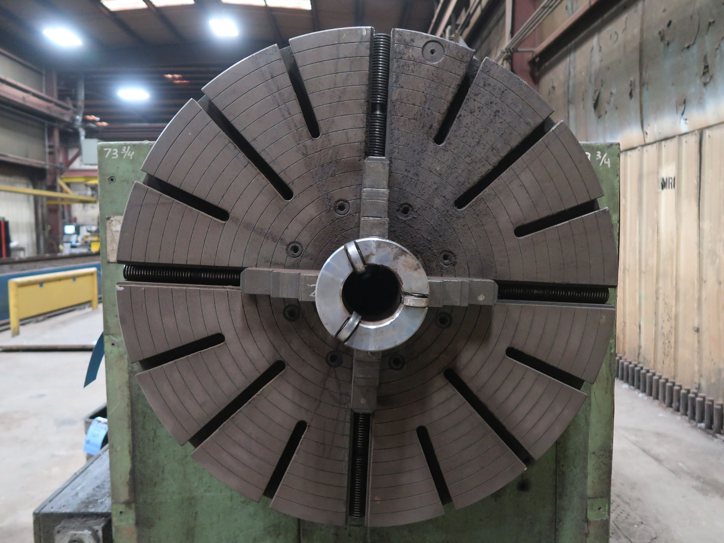 """40"""" X 160"""" GRUTZPE TIMEMASTER MODEL 4000/500 DOUBLE CHUCK ENGINE LATHE; SPEEDS TO 500 RPM, APPROX. - Image 14 of 14"""