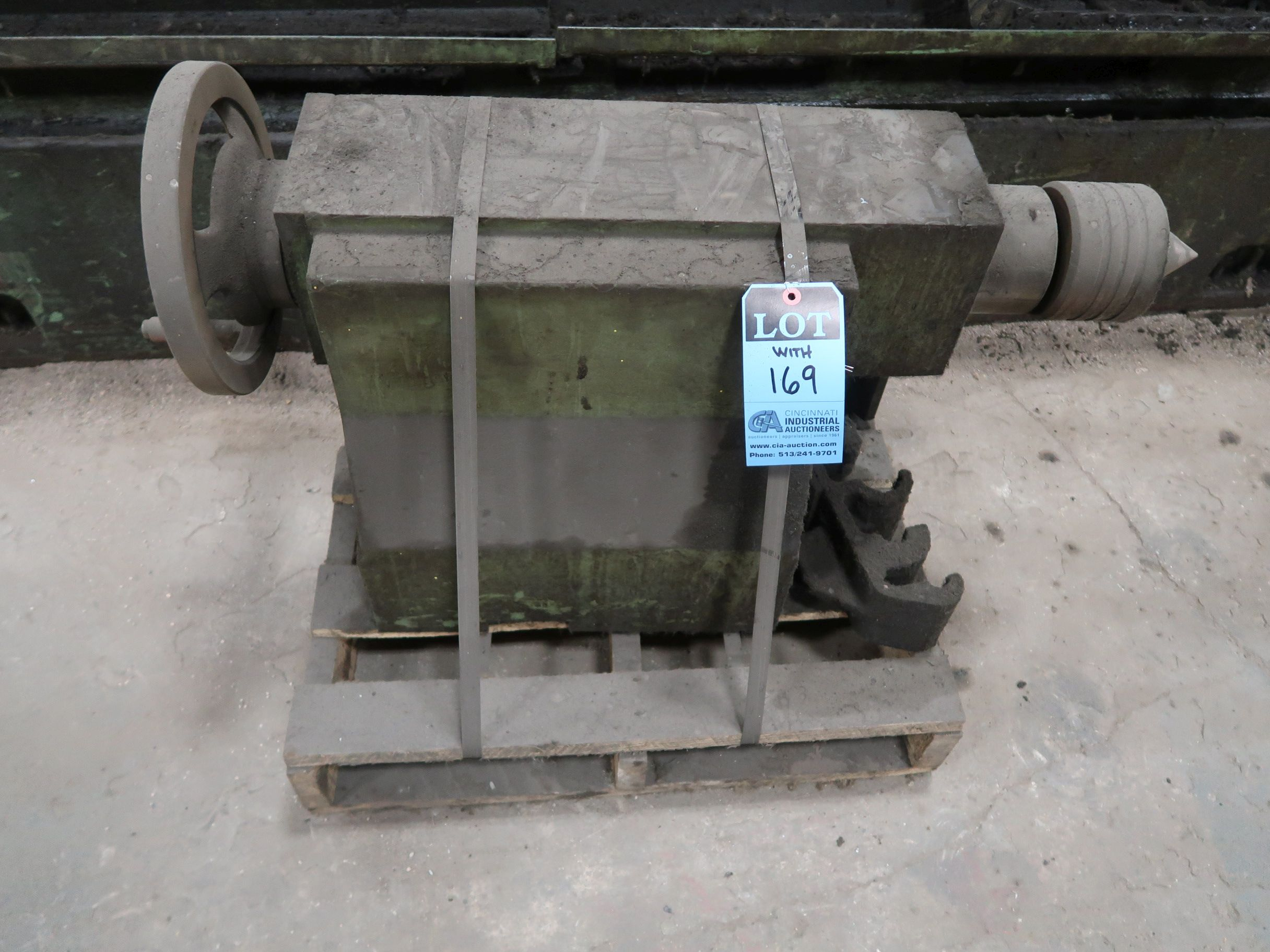 """40"""" X 160"""" GRUTZPE TIMEMASTER MODEL 4000/500 DOUBLE CHUCK ENGINE LATHE; SPEEDS TO 500 RPM, APPROX. - Image 13 of 14"""