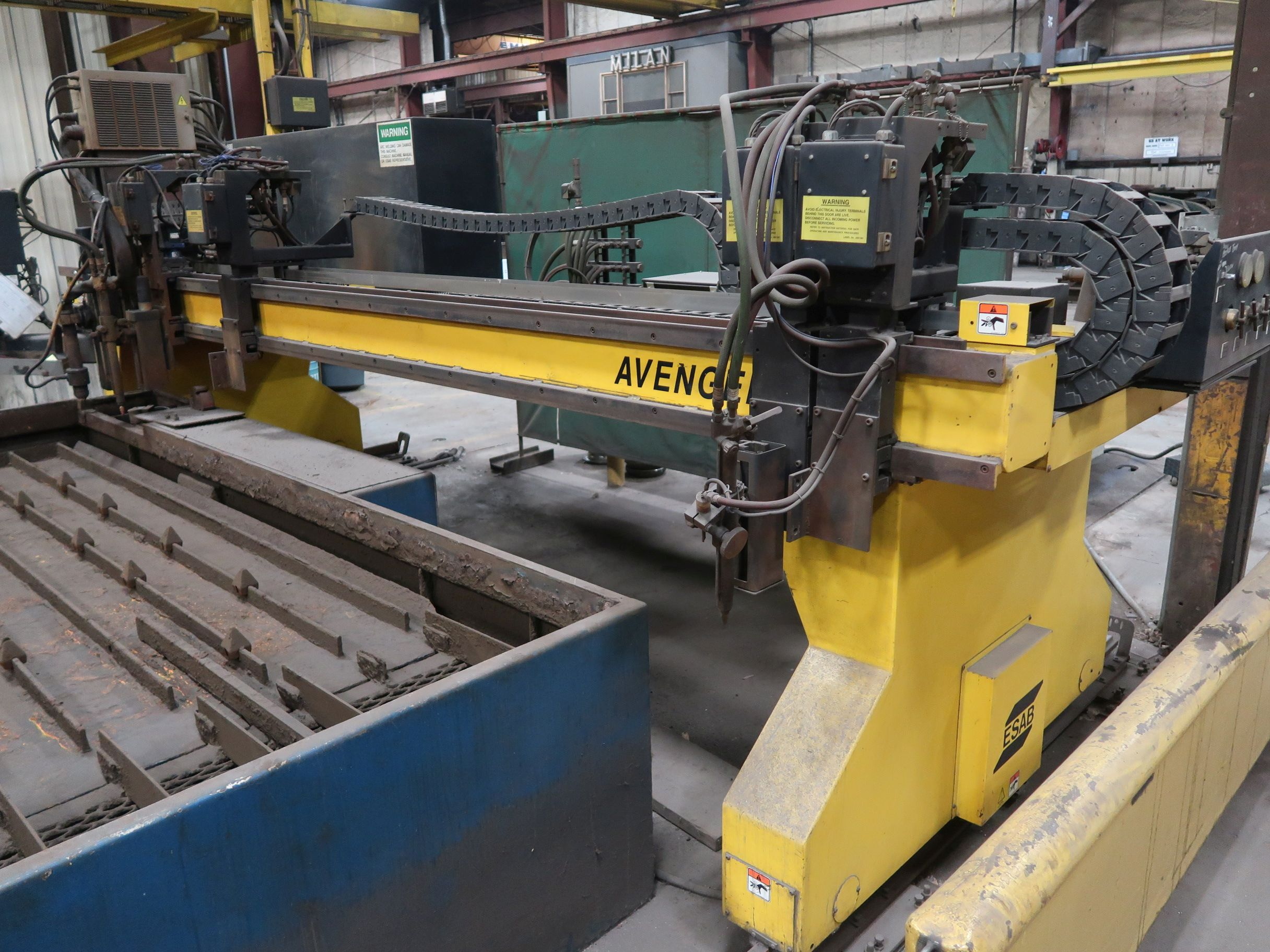 12' X 40' ESAB MODEL AVENGER 1-12 VISION PLASMA TABLE W/ BURNY 10 CONTROL; S/N 0560986386, UPDATED - Image 14 of 23