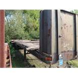 APPROX. 40' FLAT BED YARD TRAILER (NO TITLE)