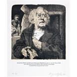 Merlin Verlag - Tod in Weimar. 16 Lithografien von Johannes Grützke zu der Novelle von Henning