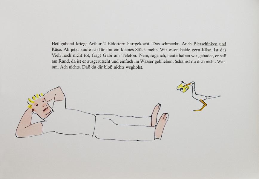 Auktionslos 316 - Mariannenpresse - Einar Schleef. Arthur. Berlin 1985. Mit zehn ganzseitigen farbigen