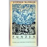 Eremiten-Presse - Werner Schreib. Punzen mit Schnatterings. 11 teils farbige Original-Punzen.