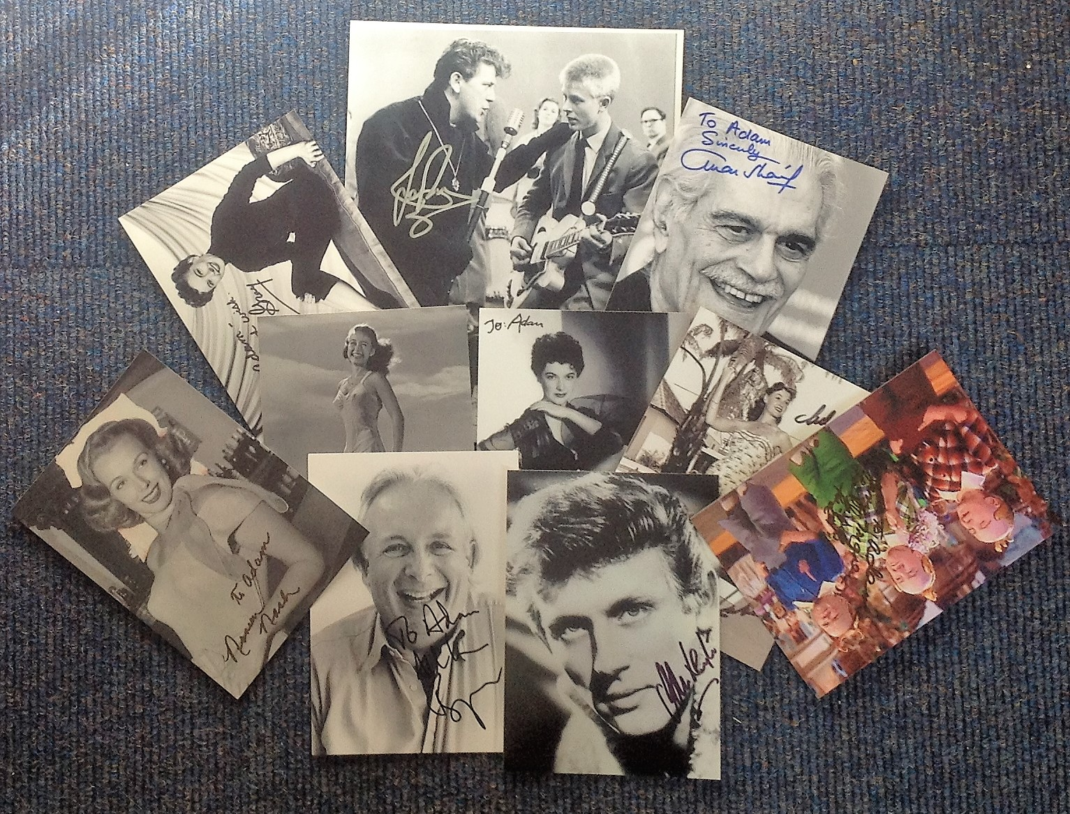Lot 55 - TV/film signed collection. 10 photos mainly 7x5 size. Includes Jane Powell, Ann Robinson, Margia