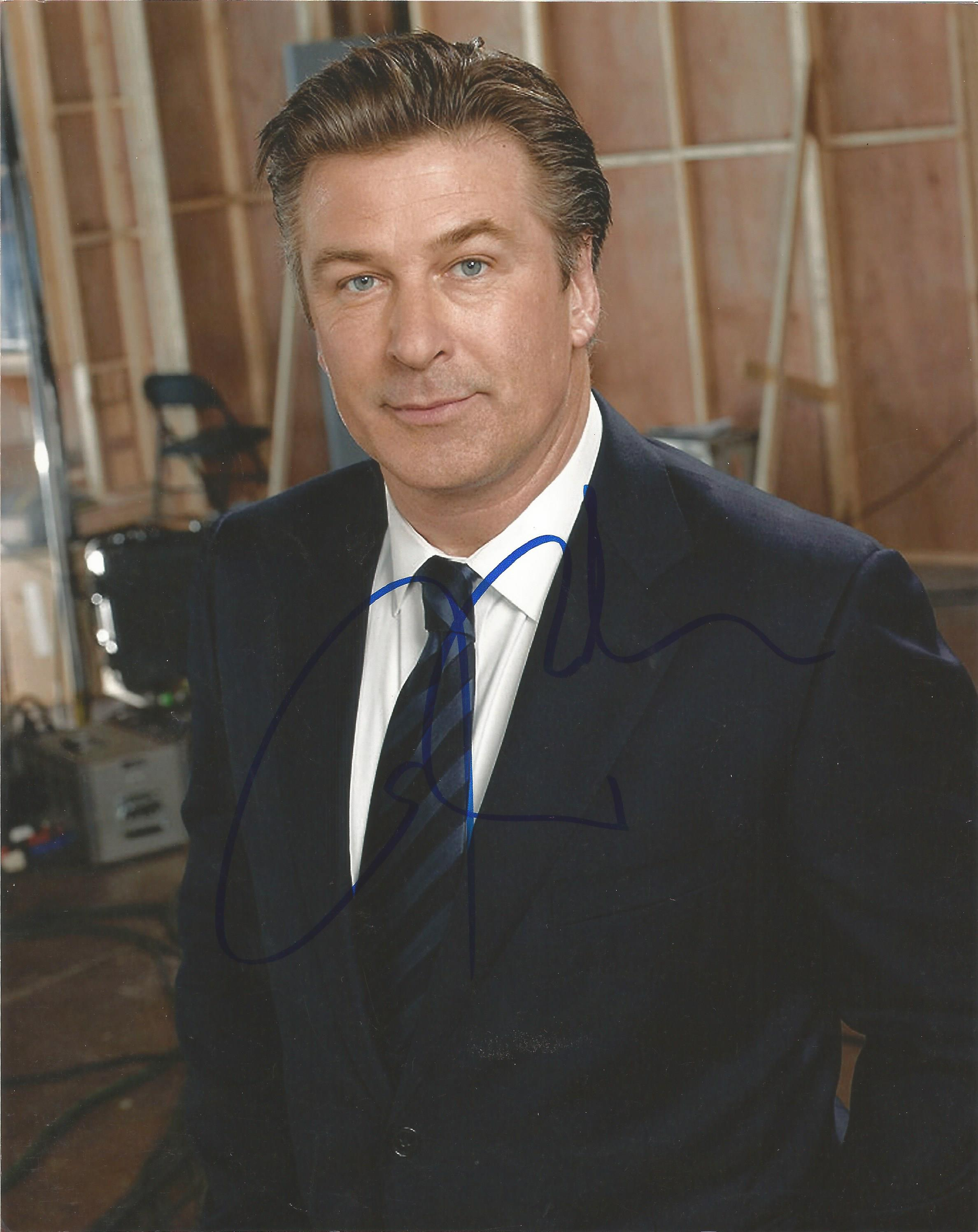 Lot 21 - Alec Baldwin signed 10 x 8 colour 30 Rock Movie Shot Portrait Photo, from in person collection