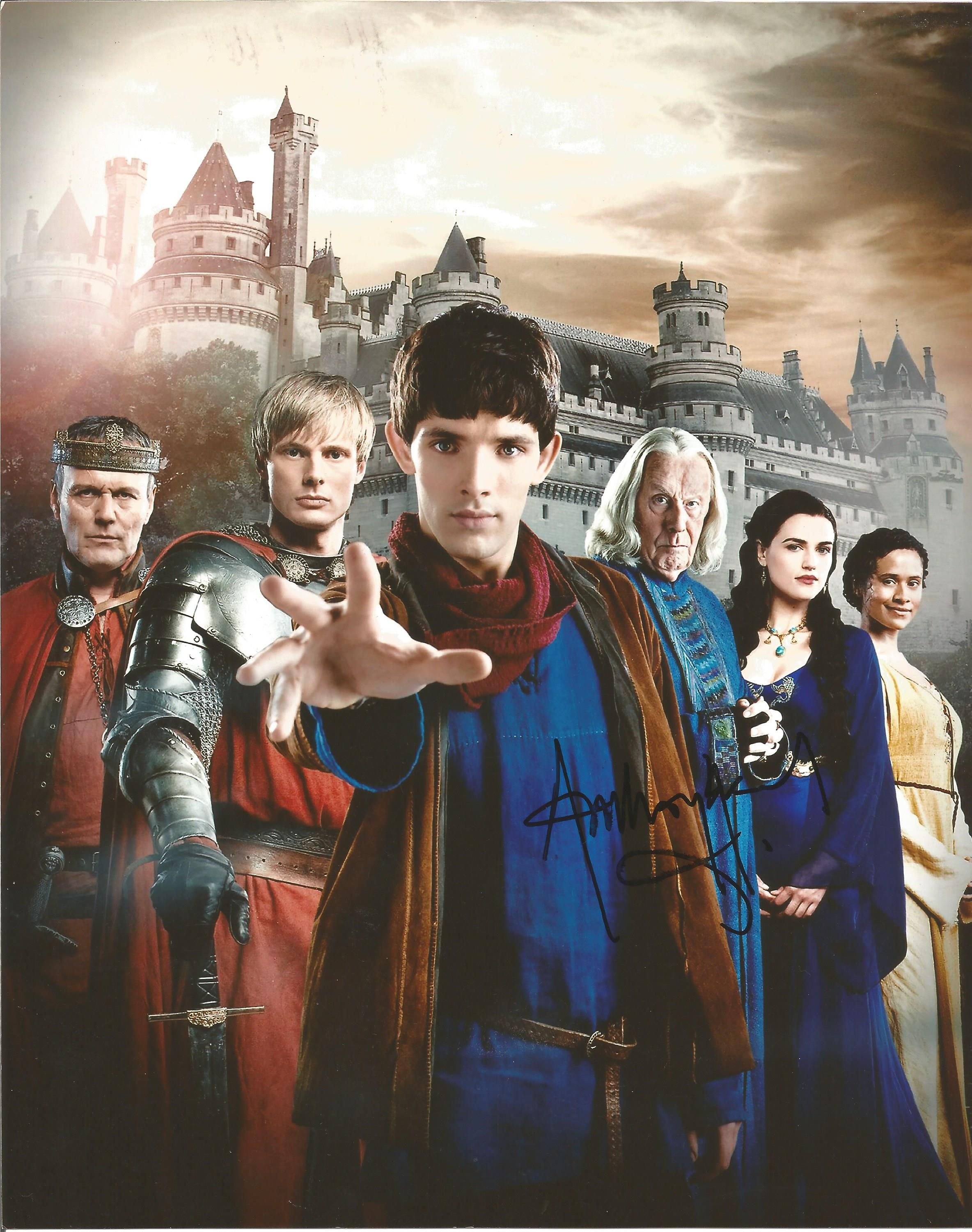 Lot 14 - Anthony Head signed 10 x 8 colour Merlin Portrait Photo, from in person collection autographed at