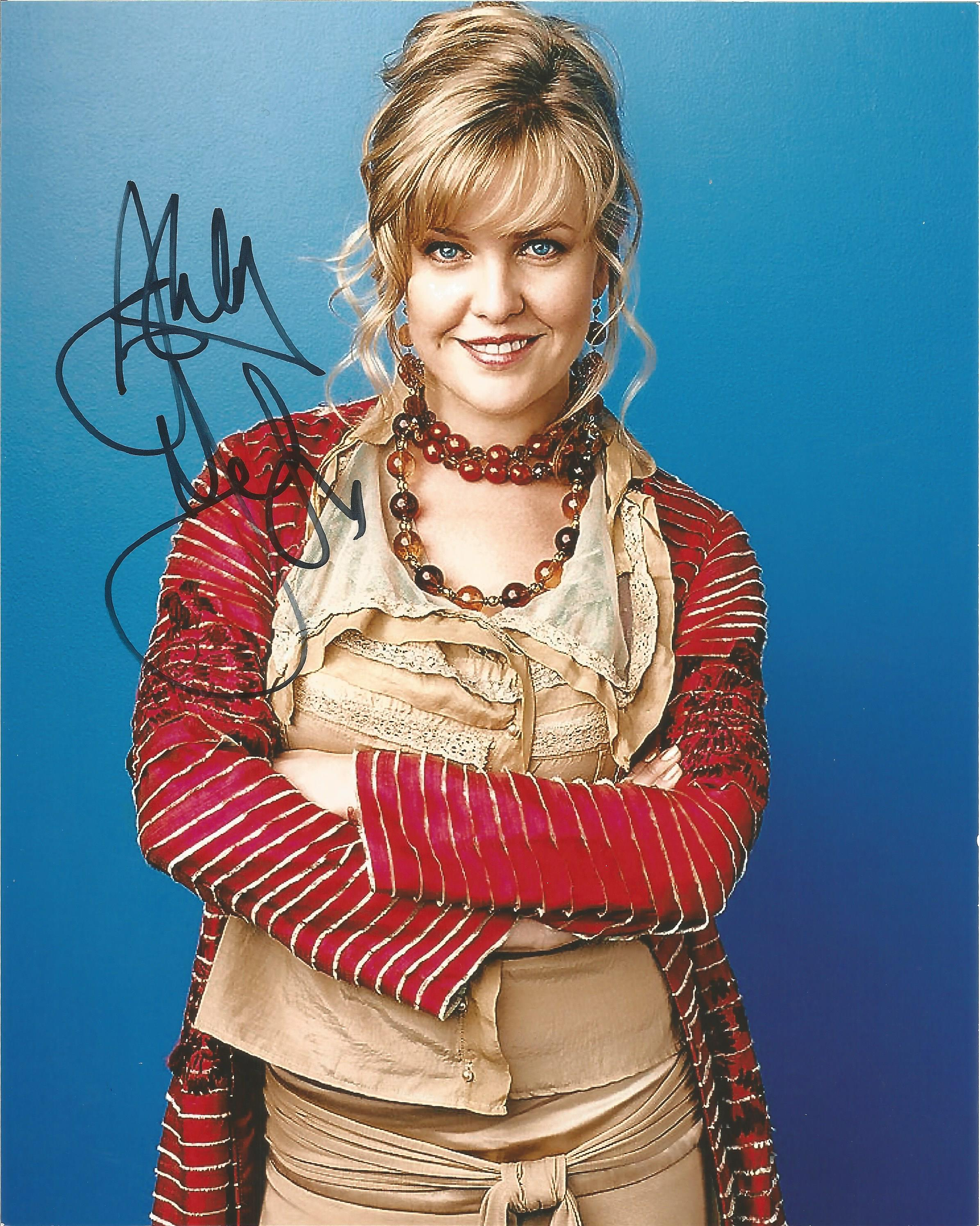 Lot 42 - Ashley Jensen signed 10 x 8 colour Ugly Betty Portrait Photo, from in person collection