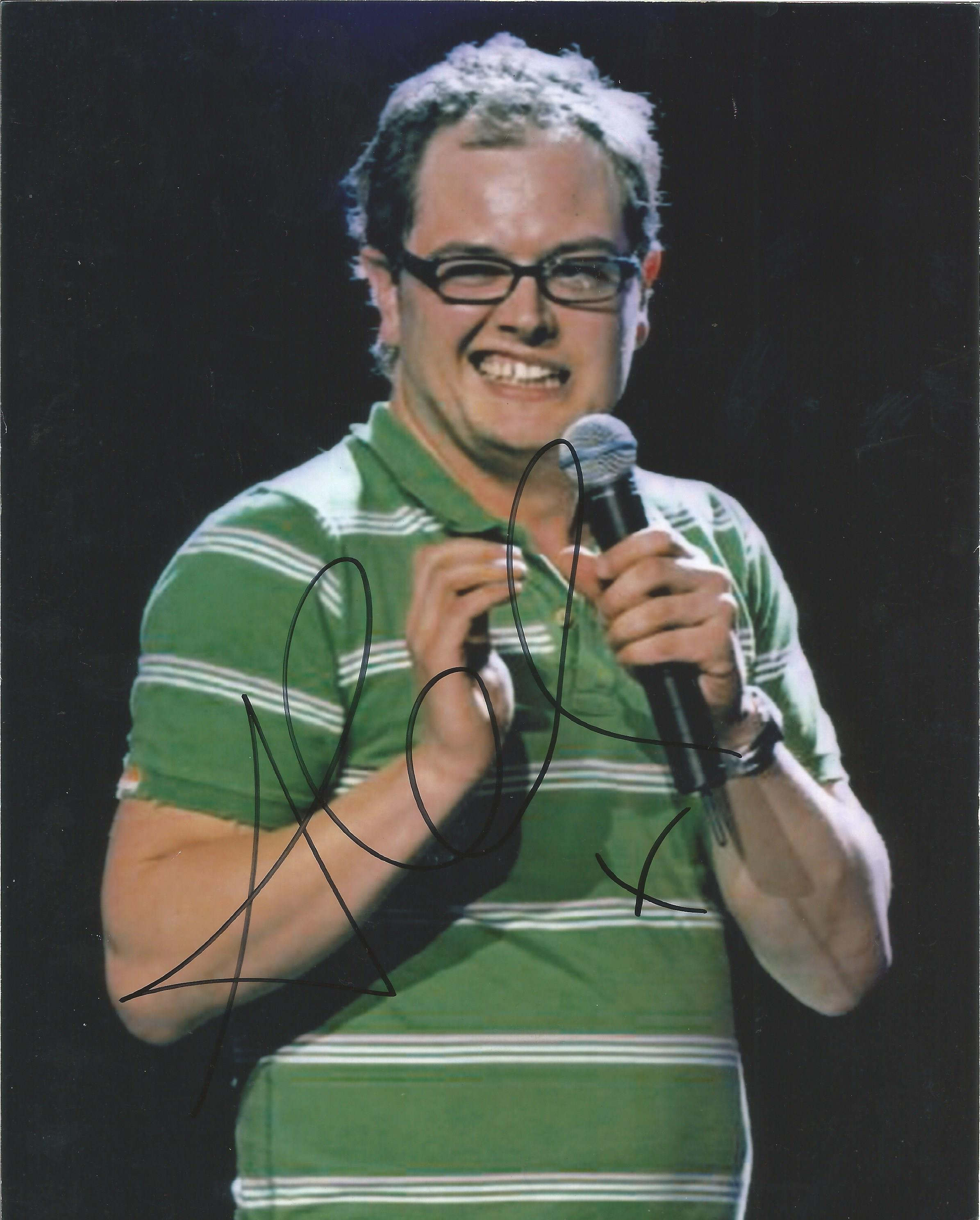 Lot 12 - Alan Carr signed 10 x 8 colour Stand up Tour Portrait Photo, from in person collection autographed