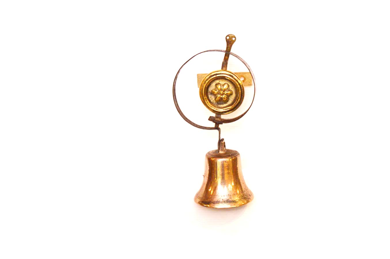 Lot 312 - An Old Brass and Metal Servants Bell