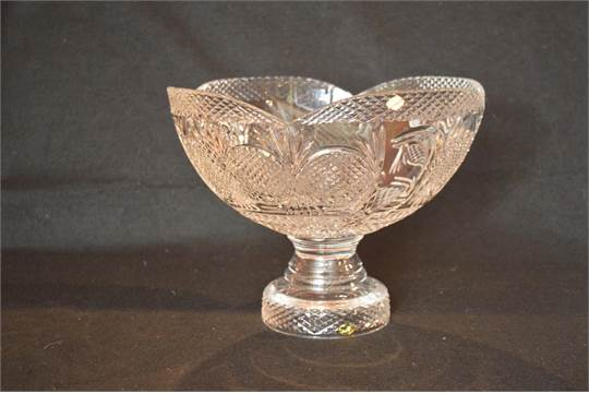 A Large Limited Edition Tyrone Crystal Millennium 2000 Footed Bowl