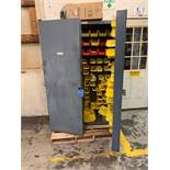 ACRO BIN STYLE STORAGE CABINET WITH MISCELLANEOUS TOOLING