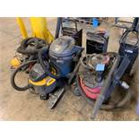 (LOT) MISCELLANEOUS SHOP WET / DRY VACS