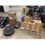 APPROX. VIKING TYPE VIKING ER-705-6CU X .035 NEW WELDING WIRE WITH (14) PARTICAL SPOOLS AND (1)