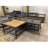 (LOT) MISCELLANEOUS SIZE STEEL TABLES