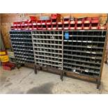PIGEON HOLE RACKS WITH MISCELLANEOUS HARDWARE **NO RACK - STAYS WITH BUILDING**