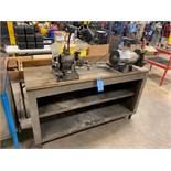 DAREX DRILL SHARPENER AND DE GRINDER WITH BENCH