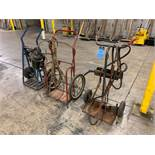 OXY-ACETYLENE CARTS WITH HOSE AND GAGES