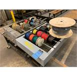 (LOT) MISCELLANEOUS ELECTRIC WIRE WITH RACKS