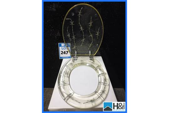 Barbed Wire Toilet Seat. Previous Novelty Barbed Wire Clear Resin Toilet Seat  Typical RRP 49
