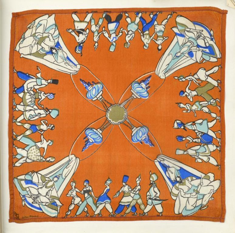 SCHEHERAZADE. A RARE ALBUM OF THIRTEEN [OF SIXTEEN] SILK HANDKERCHIEFS DESIGNED BY GEORGE SHERINGHAM - Image 2 of 5