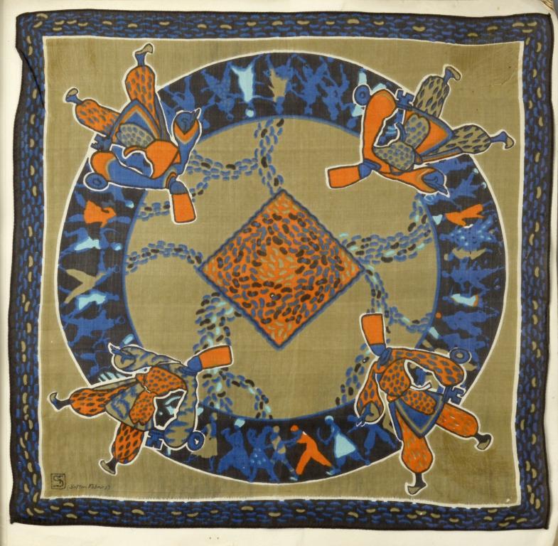 SCHEHERAZADE. A RARE ALBUM OF THIRTEEN [OF SIXTEEN] SILK HANDKERCHIEFS DESIGNED BY GEORGE SHERINGHAM - Image 3 of 5