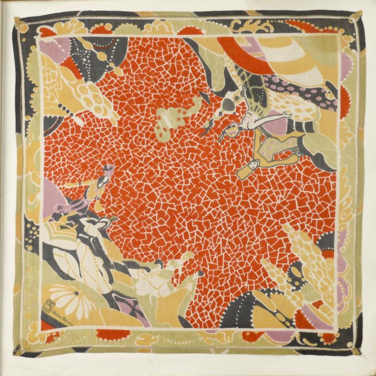 SCHEHERAZADE. A RARE ALBUM OF THIRTEEN [OF SIXTEEN] SILK HANDKERCHIEFS DESIGNED BY GEORGE SHERINGHAM - Image 5 of 5