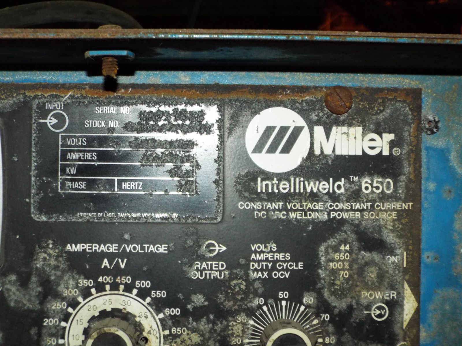MILLER INTELLIWELD 650 WELDING POWER SOURCE WITH CABLES, S/N: N/A - Image 3 of 3