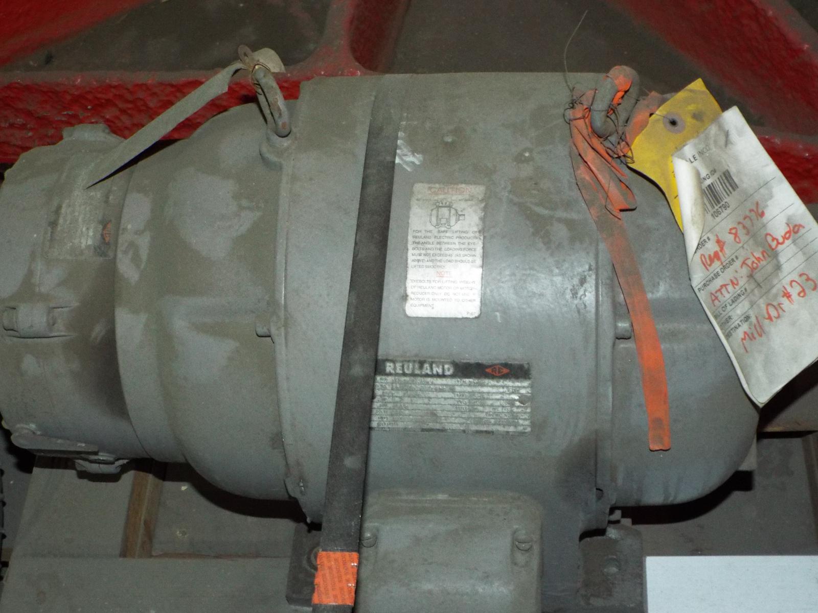 LOT/ (4) REULAND HOIST MOTORS 7.5HP/1800RPM/575V/3PH/60HZ/254U WITH MAGNETIC BRAKE (PLT 6L) - Image 3 of 5