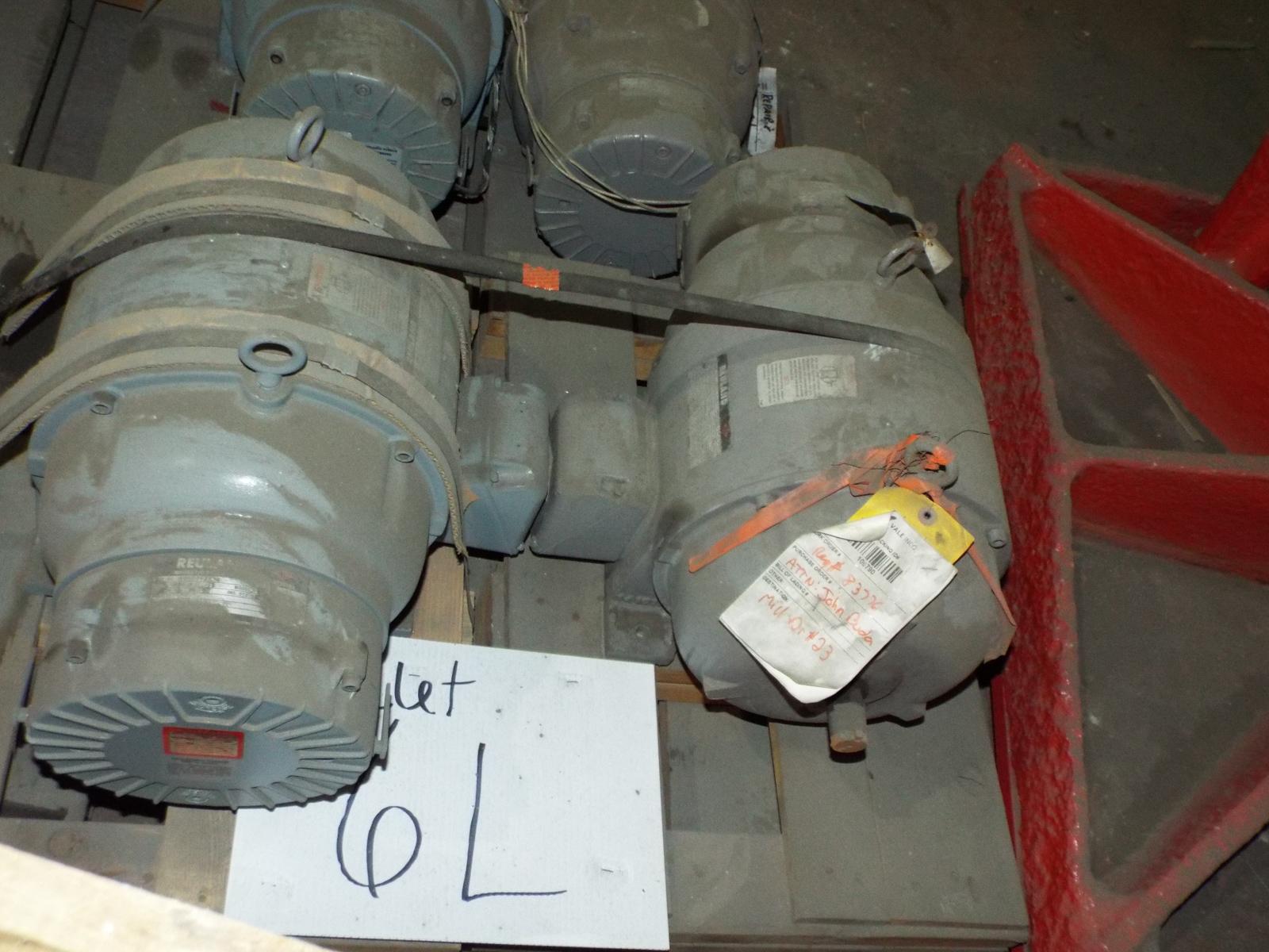 LOT/ (4) REULAND HOIST MOTORS 7.5HP/1800RPM/575V/3PH/60HZ/254U WITH MAGNETIC BRAKE (PLT 6L) - Image 2 of 5