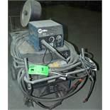 MILLER CP-302 MIG WELDER WITH MILLER 22A WIRE FEEDER, CABLES & GUN, S/N: LH290100C