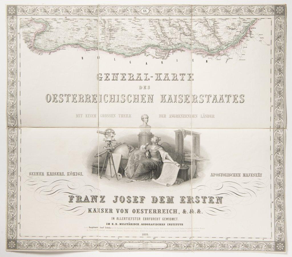 GENERAL-KARTE DES OESTERREICHISCHEN KAISERSTAATES VON DEM KAISERLICH-KÖNIGLICHEN MILITÄR- - Image 2 of 3