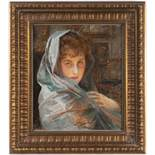 """VLAHO BUKOVAC 1855 - 1922: PORTRAIT 1917 Oil on canvas 50 x 42 cm Signed lower right """"Vlaho"""