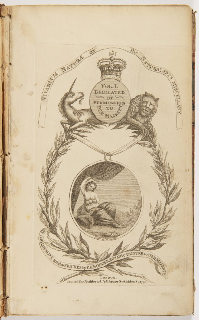 GEORGE SHAW 1751 - 1813: VIVARIUM NATURAE OR THE NATURALIST'S MISCELLANY. VOL. I-III 1790 United