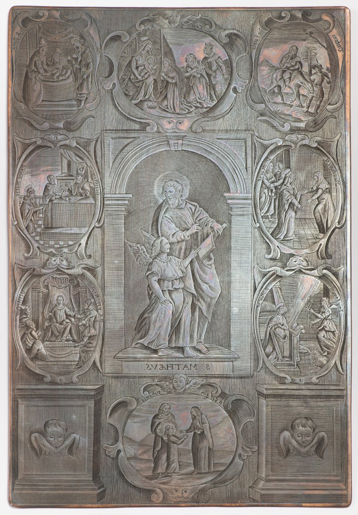 A GROUP OF THREE BAROQUE COPPER DIES FOR PRINTING THE WENCESLAS BIBLE Late 17th/early 18th century - Image 2 of 3