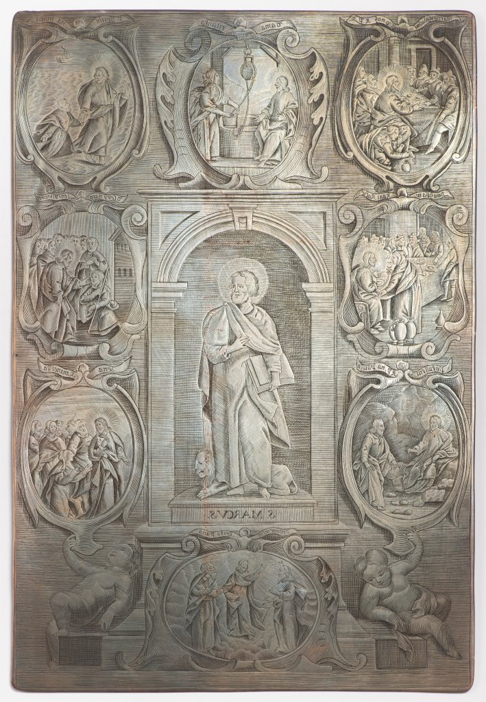 A GROUP OF THREE BAROQUE COPPER DIES FOR PRINTING THE WENCESLAS BIBLE Late 17th/early 18th century