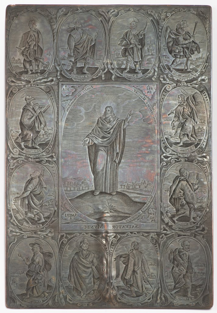 A GROUP OF THREE BAROQUE COPPER DIES FOR PRINTING THE WENCESLAS BIBLE Late 17th/early 18th century - Image 3 of 3