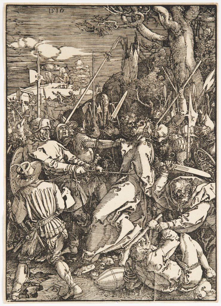 ALBRECHT DÜRER 1471 - 1528: THREE PRINTS FROM A SERIES OF TWELVE ILLUSTRATIONS OF THE PASSION 1510 - Image 2 of 3