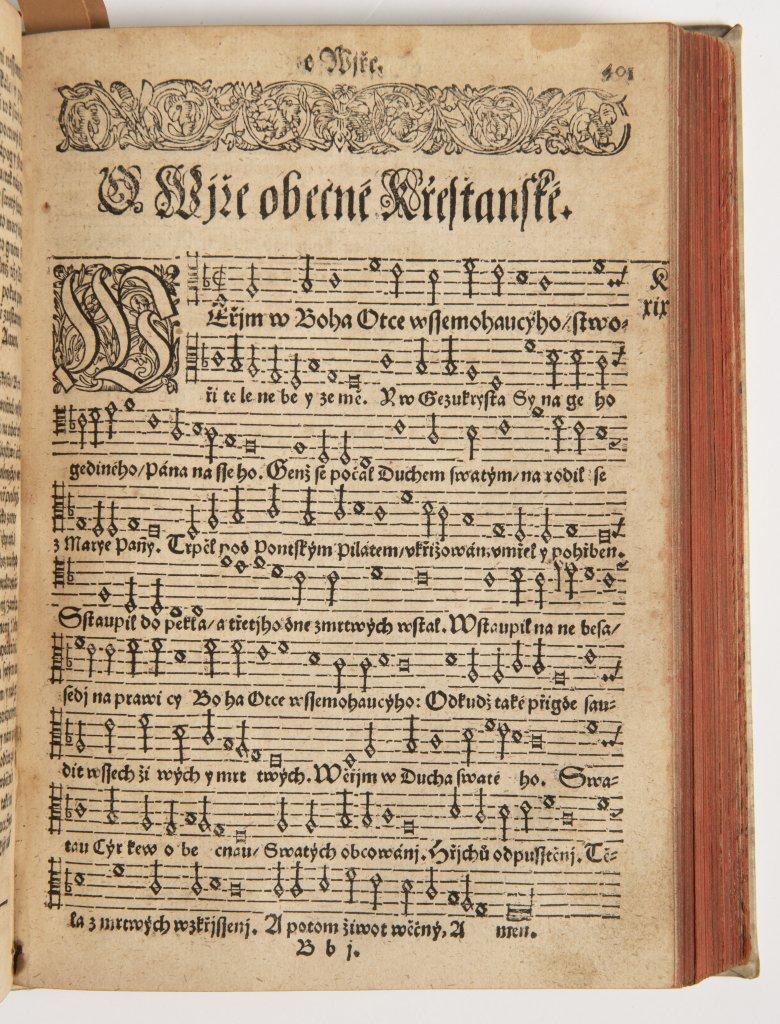 PJSNÌ DUCHOWNJ EWANGELISTSKÉ Z PJSEM SWATÝCH ... 1618 Kralice, tiskárna Èeských bratøí 20,5 x 14,5 x - Image 2 of 2