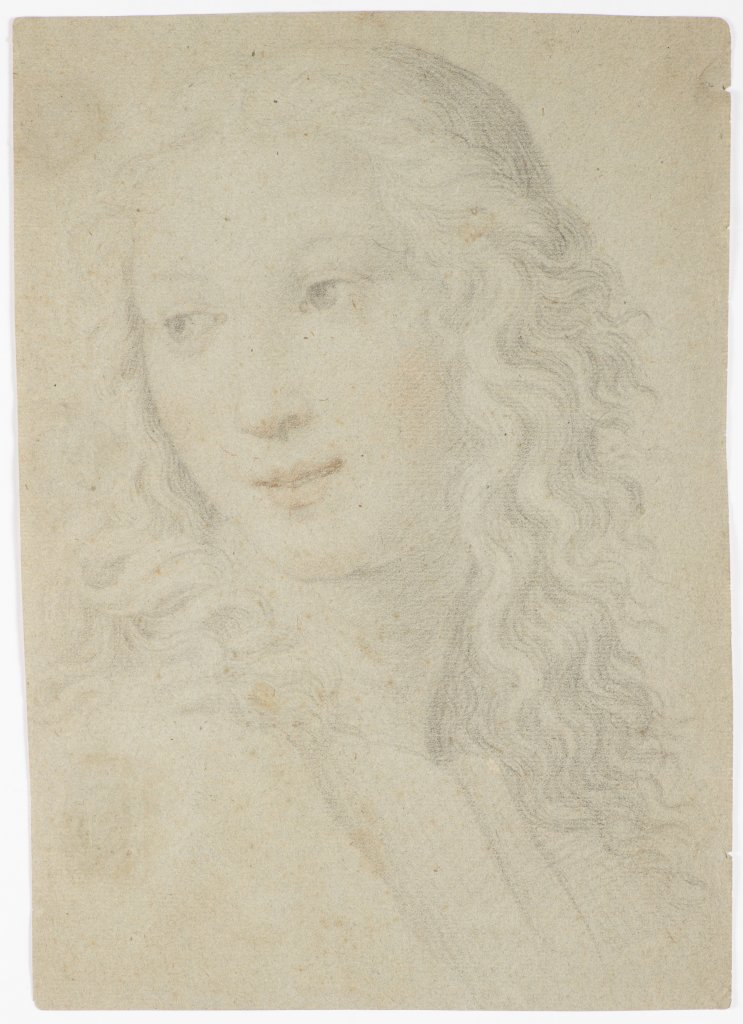 NEZNÁMÝ AUTOR: PORTRAIT OF A WOMAN IN RENAISSANCE STYLE Late 18th/early 19th century Pencil and