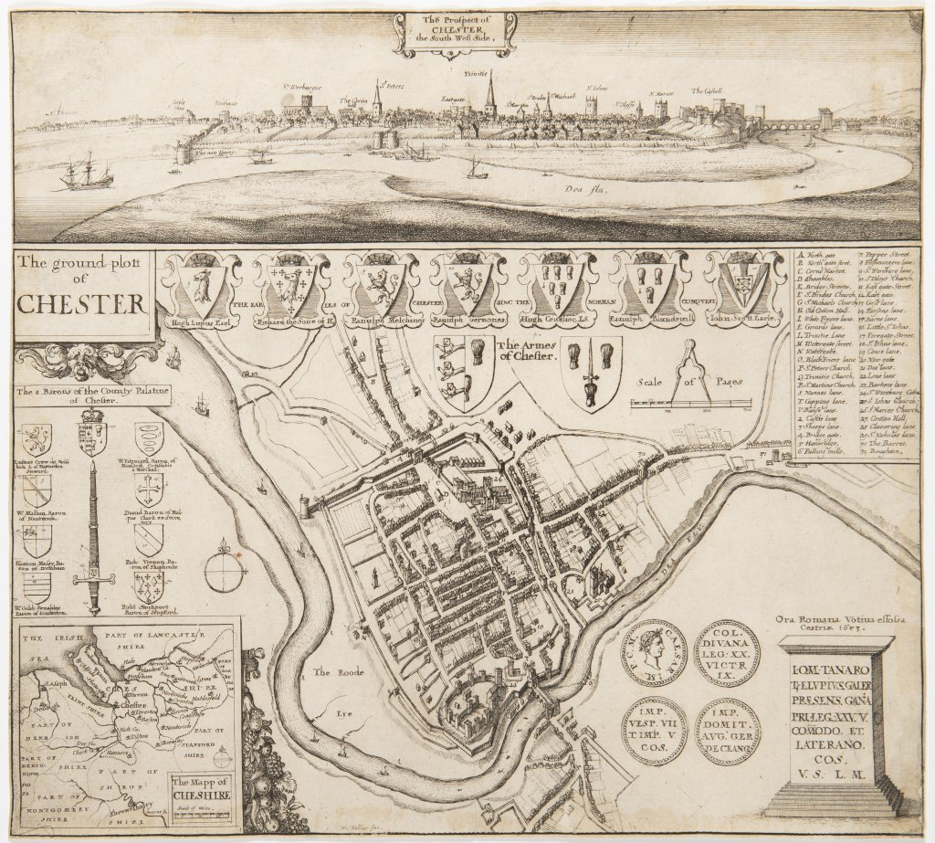 VÁCLAV HOLLAR 1607 - 1677: CHESTER 1653 Etching, paper 25 x 28 cm An original etching from 1653. Two