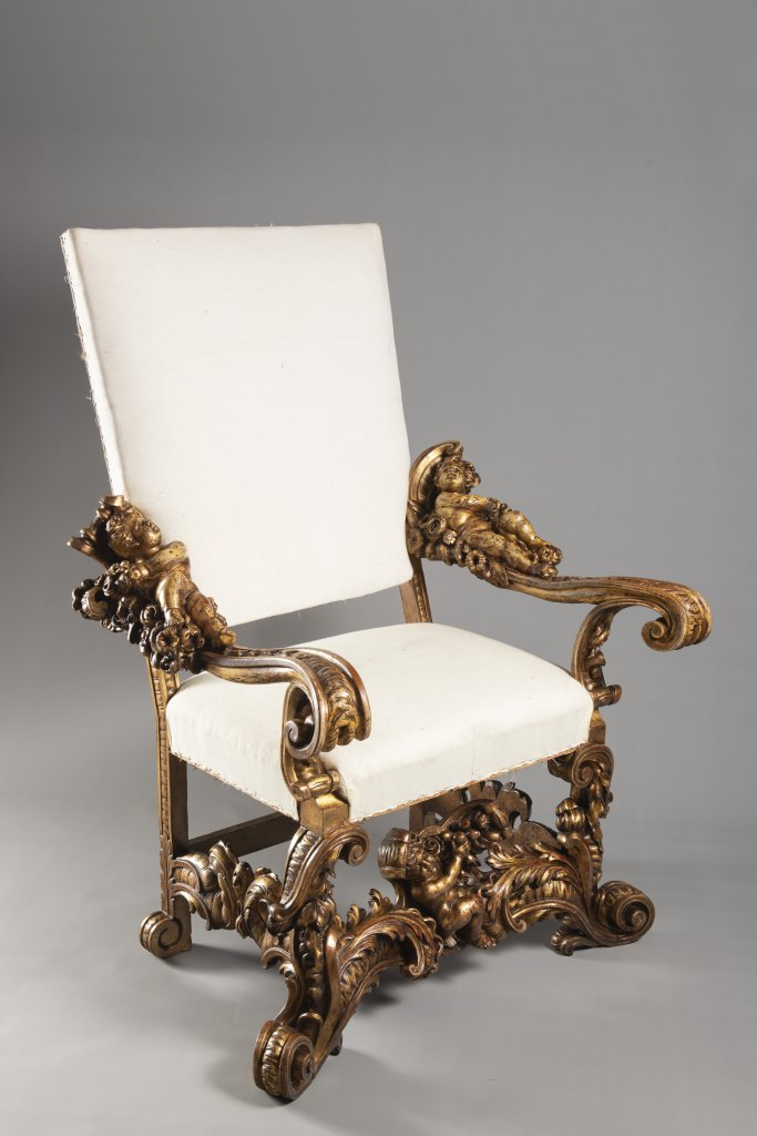 A VENETIAN BAROQUE ARMCHAIR 18th century Italy Benátky Linden, spruce and alder wood 130 x 90 x 55 - Image 2 of 5