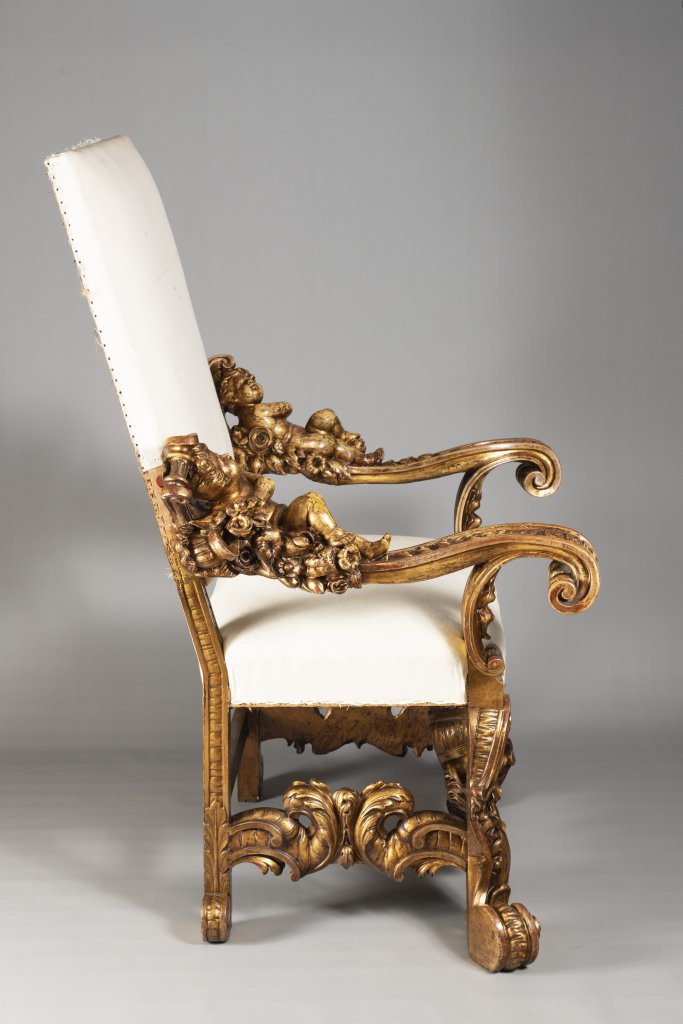 A VENETIAN BAROQUE ARMCHAIR 18th century Italy Benátky Linden, spruce and alder wood 130 x 90 x 55 - Image 5 of 5
