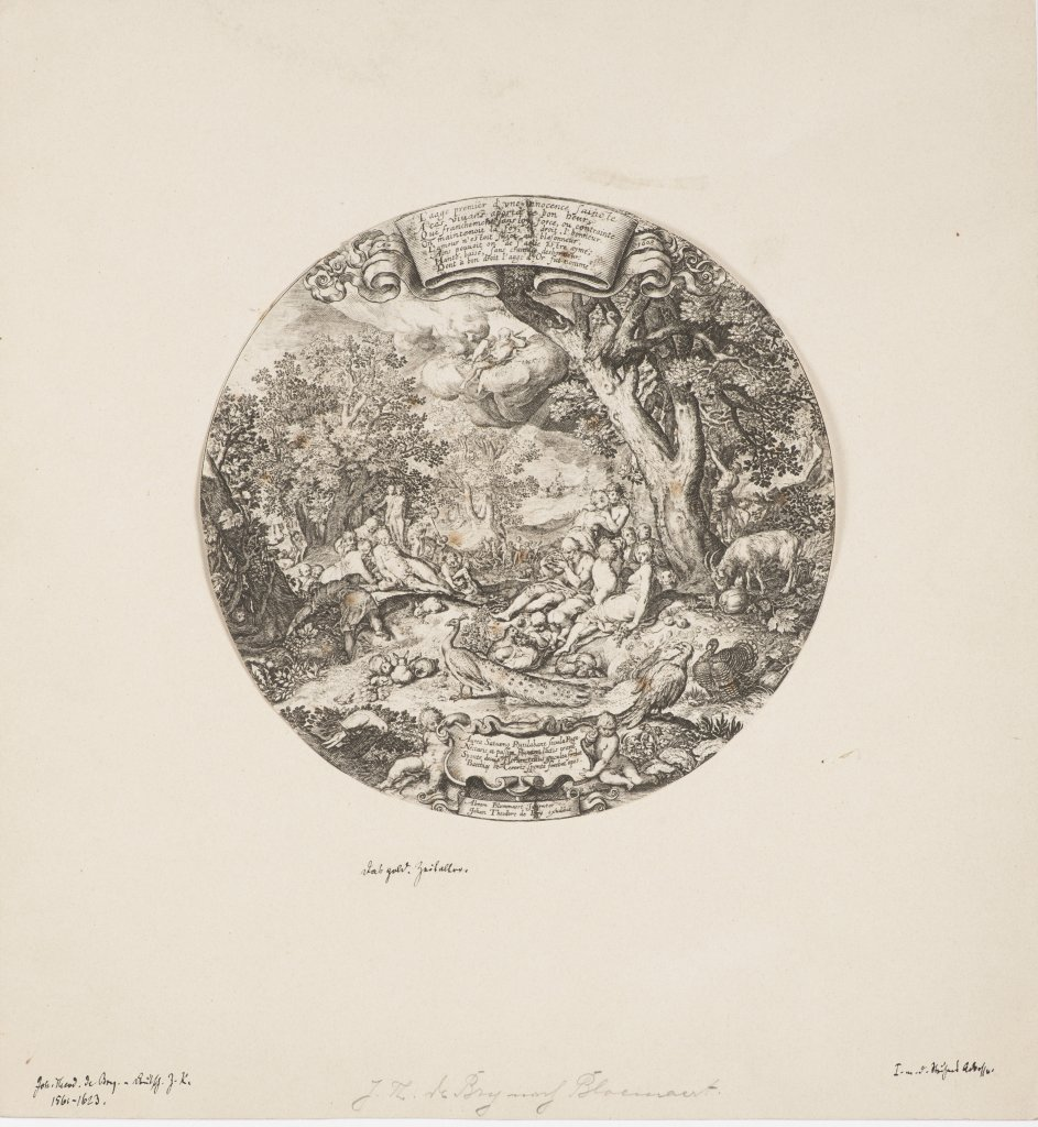 JOHAN THEODORE DE BRY 1528 - 1598: THE GOLDEN AGE 1603 Germany Copper engraving on paper ?16 cm