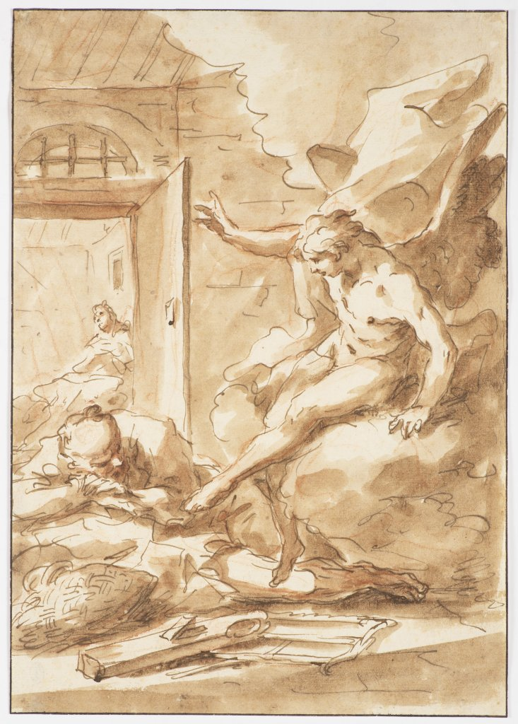 SEBASTIANO RICCI 1659 - 1734: ANNUNCIATION OF THE VIRGIN Late 17th/early 18th century Italy Line-