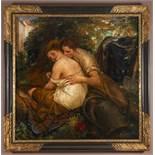 """JAKUB OBROVSKÝ 1882 - 1949: LOVERS 1916 Oil on canvas 150 x 150 cm Signed lower right """"J. Obrovský"""